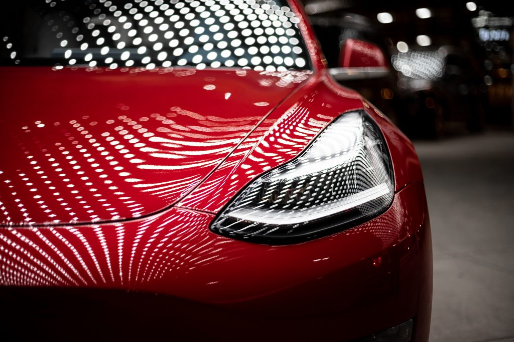 Luxurious red car